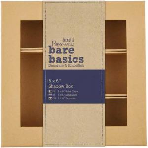 "Docrafts Papermania Bare Basics 6"" x 6 Shadow Box [174019]"