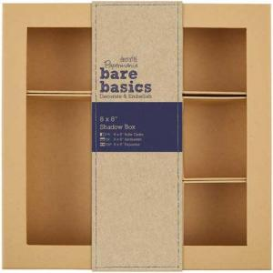 "Docrafts Papermania Bare Basics 8"" x 8"" Shadow Box [174024]"