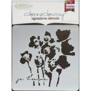 Donna Downey Signature Stencils - Je T'aime [DD-104]