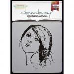Donna Downey Signature Stencils - Sketched Portrait [DD-044]