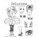 Dylusions Unmounted Rubber Stamps - Curious Corrin [DS009]