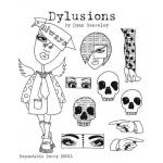 Dylusions Unmounted Rubber Stamps - Dependable Dotty [DYR34476]