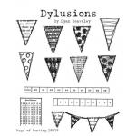 Dylusions Unmounted Rubber Stamps - Bags of Bunting [DS017]