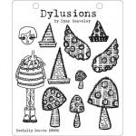 Dylusions Unmounted Rubber Stamps - Doolally Doris [DYR34384/DS002]