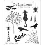 Dylusions Unmounted Rubber Stamps - Bits and Bats [DYR34414/DS005]