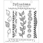 Dylusions Unmounted Rubber Stamps - Around the Edge [DYR34421]