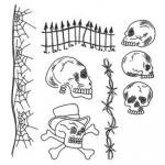 Dylusions Unmounted Rubber Stamps - Day Of The Heads [DYR38320]