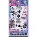 Dylusions Clear Stamps and Stencil Set - Dear Santa [DYZ52463]