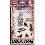 Dylusions Clear Stamps and Stencil Set - Eat, Drink, and Be Scary [DYZ53590]