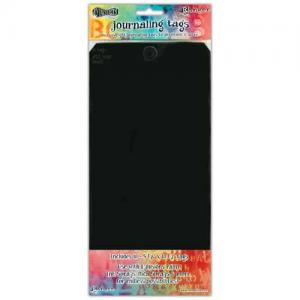 Dylusions Journaling Tags - Black Size 12