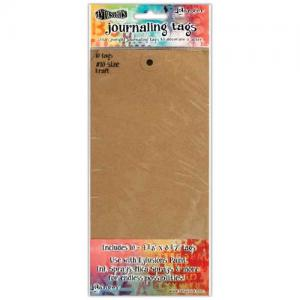 Dylusions Journaling Tags - Kraft Size 10