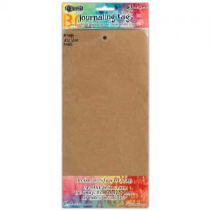 Dylusions Journaling Tags - Kraft Size 12