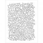 """Dylusions 9x12"""" Stencil - Arrows [DYS44260]"""