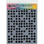 "Dylusions 9x12"" Stencil - Fresh Dots [DYS52296]"