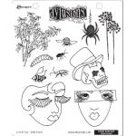 Dylusions Unmounted Rubber Stamps - Bits of This [DYR34605]