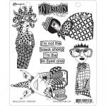 Dylusions Unmounted Rubber Stamps - Black Sheep [DYR46189]