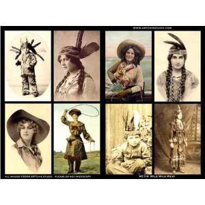 ARTchix Collage Sheet - E114 Wild Wild West