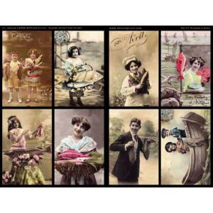 ARTchix Collage Sheet - E117 Poisson d'Avril