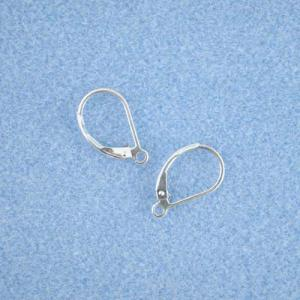 Sterling Silver Leverback Earring (with Ring) [SS202]