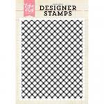 Echo Park Designer Stamp - Diagonal Plaid