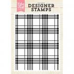 Echo Park Designer Stamp - Perfect Plaid
