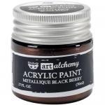 Finnabair Art Alchemy Acrylic Paint - Metallique Black Berry - ON SALE!