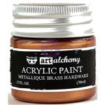 Finnabair Art Alchemy Acrylic Paint - Metallique Brass Hardware