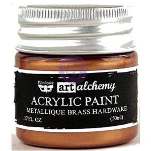 Finnabair Art Alchemy Acrylic Paint - Metallique Brass Hardware - ON SALE!
