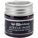 Finnabair Art Alchemy Acrylic Paint - Metallique Dark Velvet