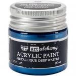 Finnabair Art Alchemy Acrylic Paint - Metallique Deep Waters