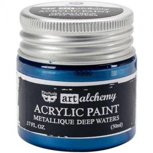 Finnabair Art Alchemy Acrylic Paint - Metallique Deep Waters - ON SALE!