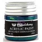 Finnabair Art Alchemy Acrylic Paint - Metallique Emerald Green - ON SALE!