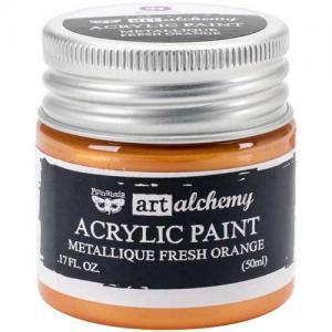 Finnabair Art Alchemy Acrylic Paint - Metallique Fresh Orange