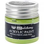 Finnabair Art Alchemy Acrylic Paint - Metallique Lime Peel