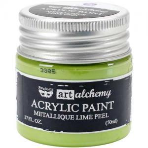 Finnabair Art Alchemy Acrylic Paint - Metallique Lime Peel