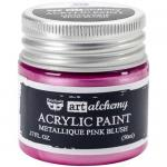 Finnabair Art Alchemy Acrylic Paint - Metallique Pink Blush - ON SALE!
