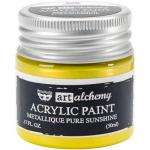 Finnabair Art Alchemy Acrylic Paint - Metallique Pure Sunshine