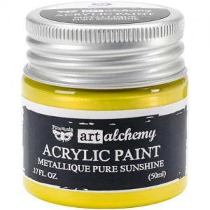 Finnabair Art Alchemy Acrylic Paint - Metallique Pure Sunshine - ON SALE!