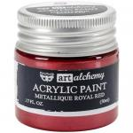 Finnabair Art Alchemy Acrylic Paint - Metallique Royal Red - ON SALE!
