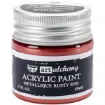 Finnabair Art Alchemy Acrylic Paint - Metallique Rusty Red