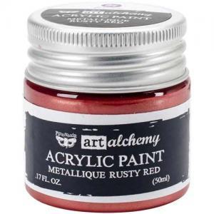 Finnabair Art Alchemy Acrylic Paint - Metallique Rusty Red - ON SALE!