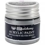 Finnabair Art Alchemy Acrylic Paint - Metallique Silver Spoon