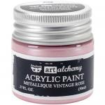 Finnabair Art Alchemy Acrylic Paint - Metallique Vintage Rose