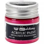 Finnabair Art Alchemy Acrylic Paint - Metallique Wild Fuchsia - ON SALE!