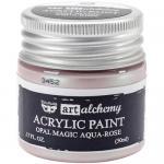 Finnabair Art Alchemy Acrylic Paint - Opal Magic Aqua Rose