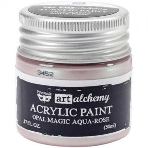 Finnabair Art Alchemy Acrylic Paint - Opal Magic Aqua Rose