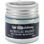 Finnabair Art Alchemy Acrylic Paint - Opal Magic Blue Gold