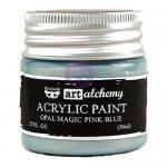 Finnabair Art Alchemy Acrylic Paint - Opal Magic Pink Blue