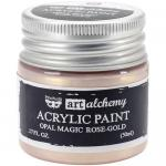 Finnabair Art Alchemy Acrylic Paint - Opal Magic Rose Gold