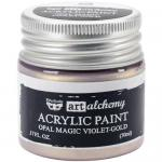 Finnabair Art Alchemy Acrylic Paint - Opal Magic Violet Gold